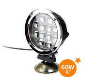 NEW! 60W led work light/ Off road ATV SUV Boat LED Driving Light ambulance 12v automotive led light
