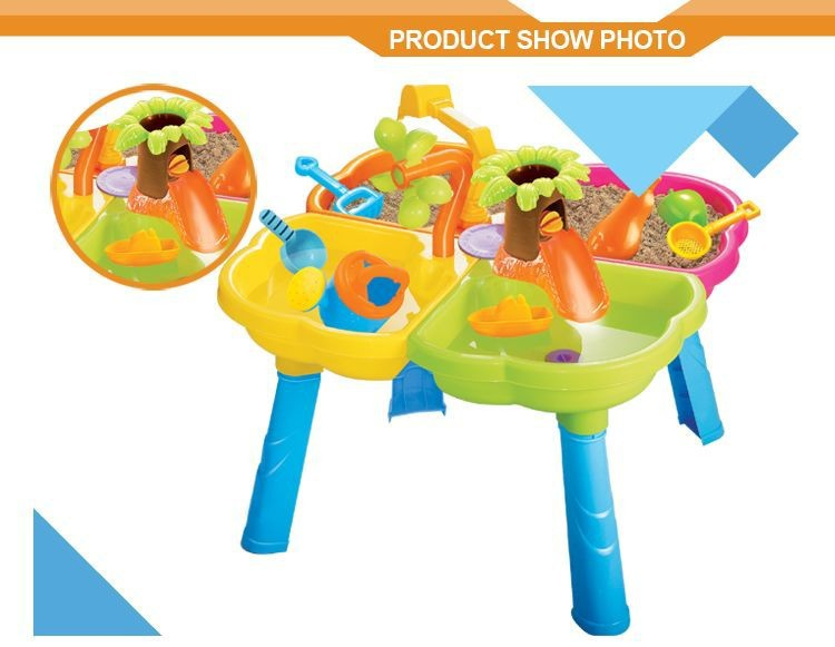 2015 Wholesaler beach toy,sand and water table for child