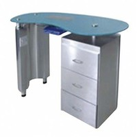 Beauty nail salon used cheap pedicure manicure table no plumbing with exhaust fan RJ-8603A