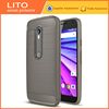 LITO Carbon Fiber Sport Phone Case Waterproof TPU Case For Moto G3