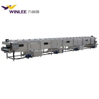 Continuous spray type small cans tunnel pasteurization