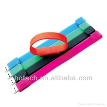 world best popular USB colorful bracelet flash driver factory price 3.0