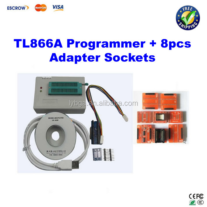 MiniPro TL866A HighSpeed eeprom USB programmer with ICSP interface and adapter socket SOP44/SOP56/TSOP48/TSOP40/TSOP32