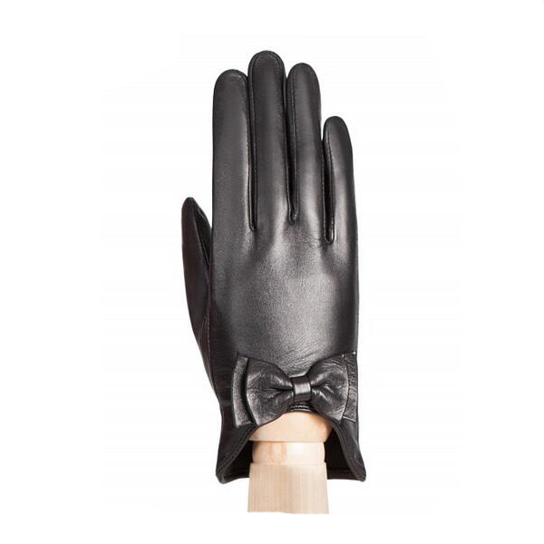 Sey women leather gloves girls driving leather gloves with bow cuff