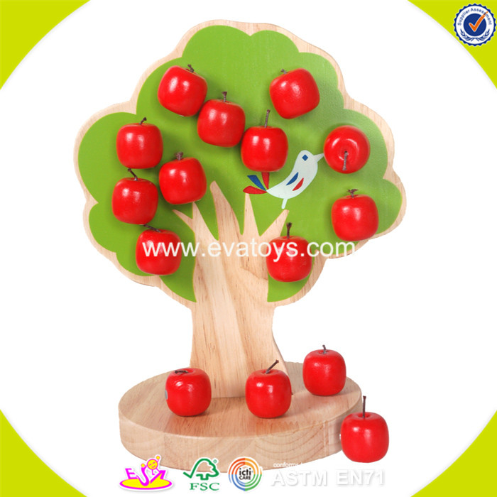 2017 wholesale apple tree wooden magnetic toy W01A091