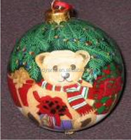 Wholesale new design and high quality Little Bear Painted Christmas Ball