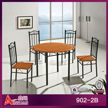 5 piece resturant PVC plastic round dining room tables and chairs