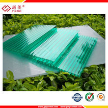 6mm blue twin wall hollow sheet polycarbonate sunshine sheet window plastic sheets