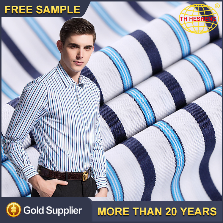 100% Cotton Yarn Dyed Shirting Woven Fabrics Top Selling Striped Cotton Shirting Fabric