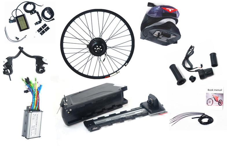 "250W 36V 26"" Electric Bicycle Front Hub Conversion Kit with 36v 10ah lithium battery"