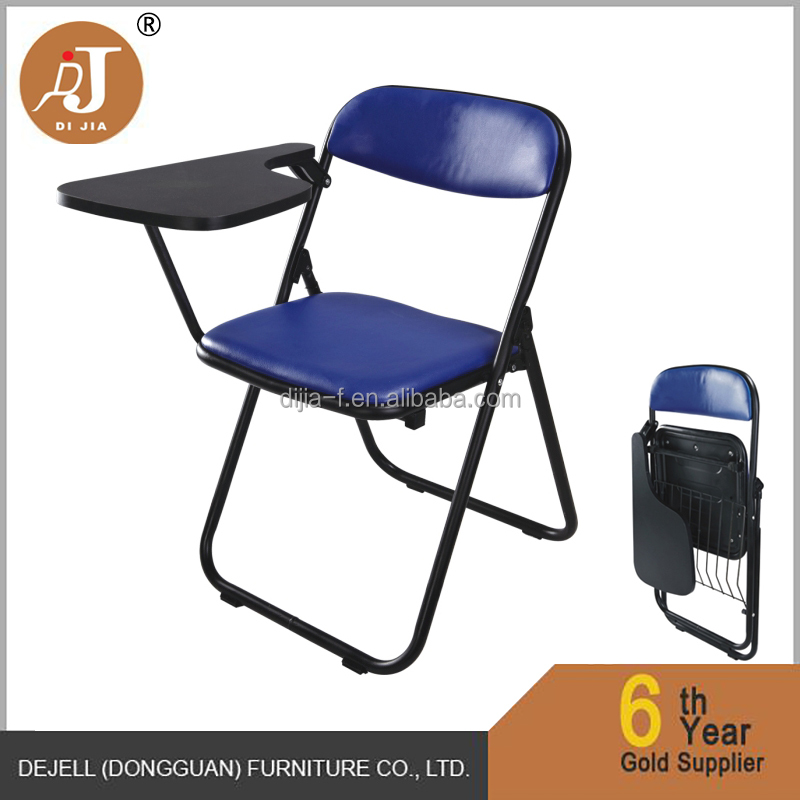 Plastic Folding Student Training Chair With Right Left Handed Tablet Arm
