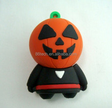 Popular Halloween Promotion Gifts Pumpkin USB Stick Gifts