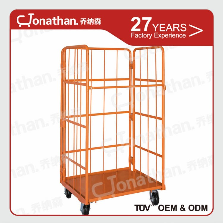 Industrial high quality mobile roll trolley cage