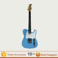 Customized blue guitar electric /acoustic electric guitar with electric guitar kit