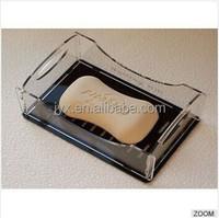 Simple style custom clear acrylic soap dish, acrylic soap dish shenzhen for hotel