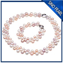AAA Multicolor Fresh Water pearl Jewelry Set PJS003