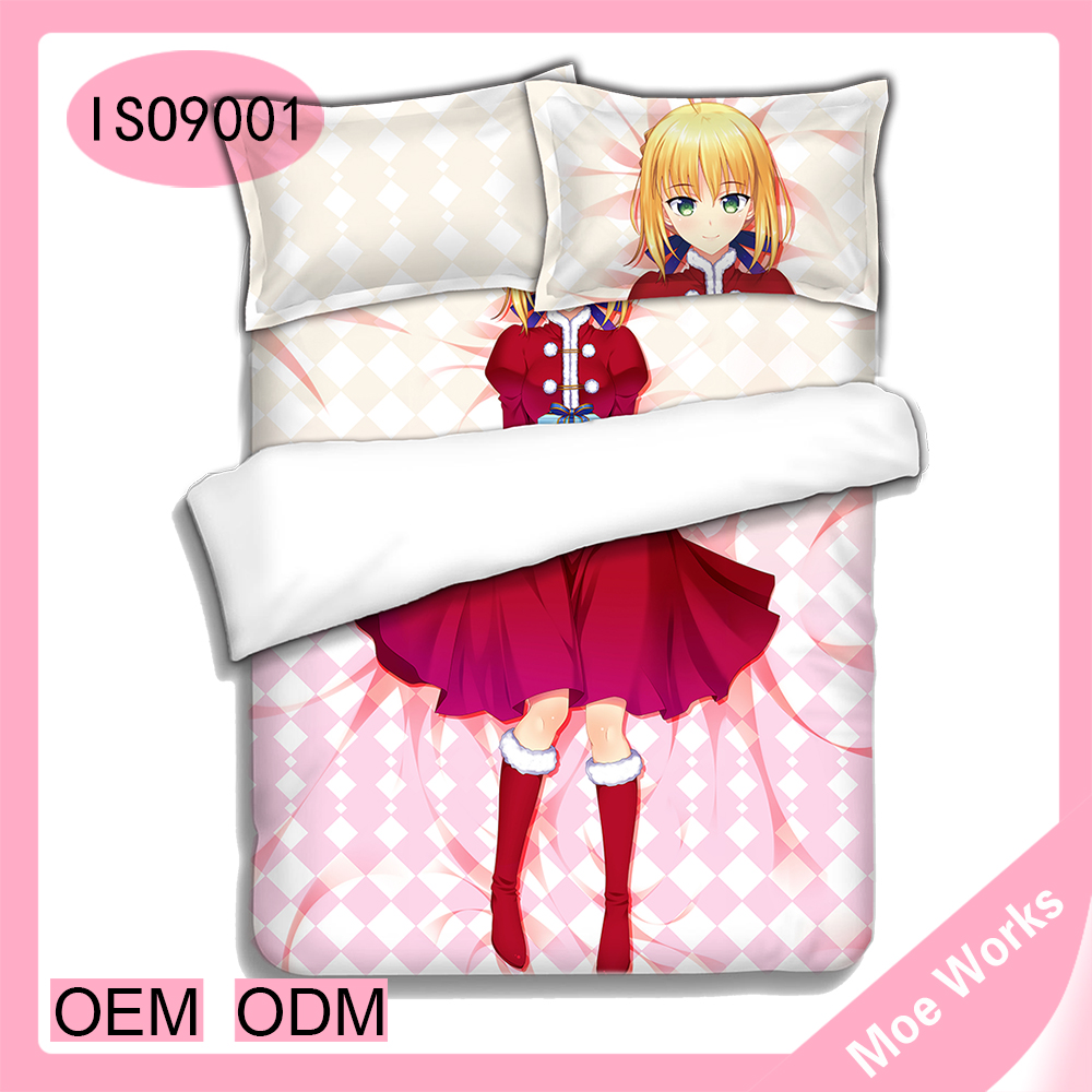 saber Fate stay night anime christmas bedding products comforter bedding sets low price