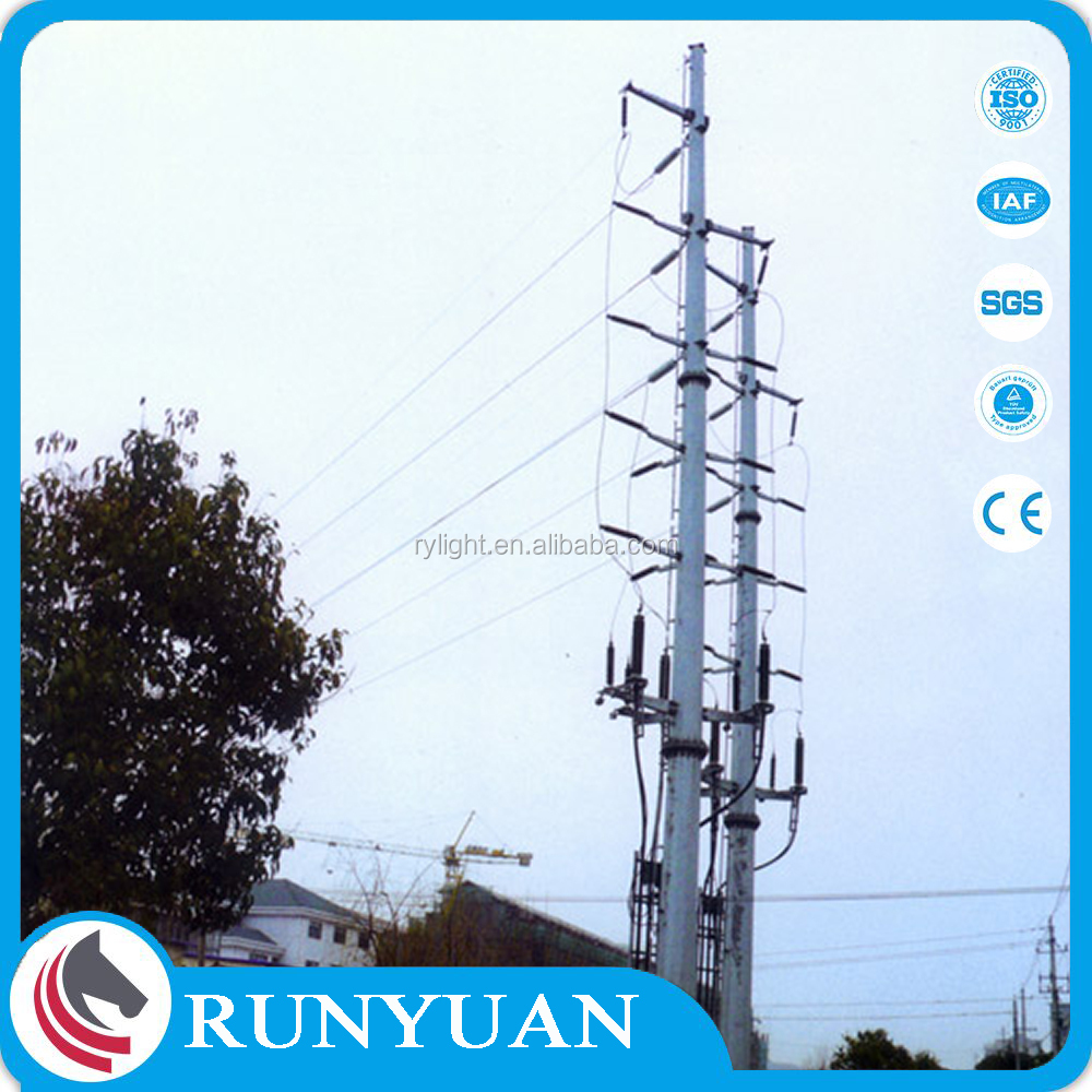 Factory Customized Q235 Steel 220kv Transmission Line Towers with Hot-dip Galvanization