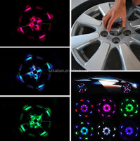 New design ! Fashion Universal led car/auto solar wheel lights