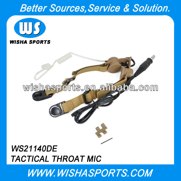 Z Tactical Throat Mic Headset For Walkie Talkie