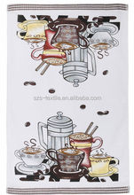 custom printed plain linen cotton tea towel