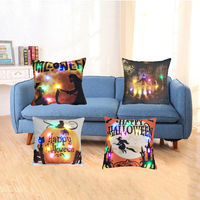 "China ningbo 18x18"" 45x45cm printed digital printing led cushion seat sitting room custom throw pillow"