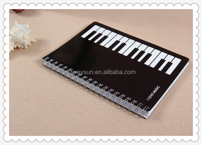 Student Piano Keyboard Spiral Bound Music Note Book