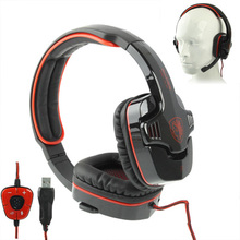 Stylish Gaming headset Sades SA-901 USB 2.0 Stereo Gaming Headphone with Microphone & 7.1 Simulated Sound Channel