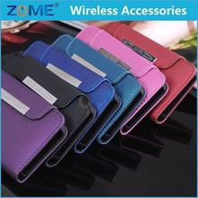 Wholesale Mobile Cases For iPhone 5 5S Leather Case Pouch Belt Clip Holster With Belt Loops Wallet Case