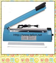 "8"" Blue manual impulse heat sealer for cellophane / PP / PE PFS200"