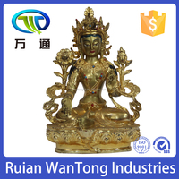 M1008 indoor decoration casting brass gold sitting buddha statue