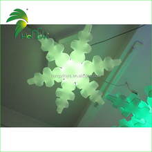 Colour Changeable Inflatable Lighting Snowflake Model For Decoration