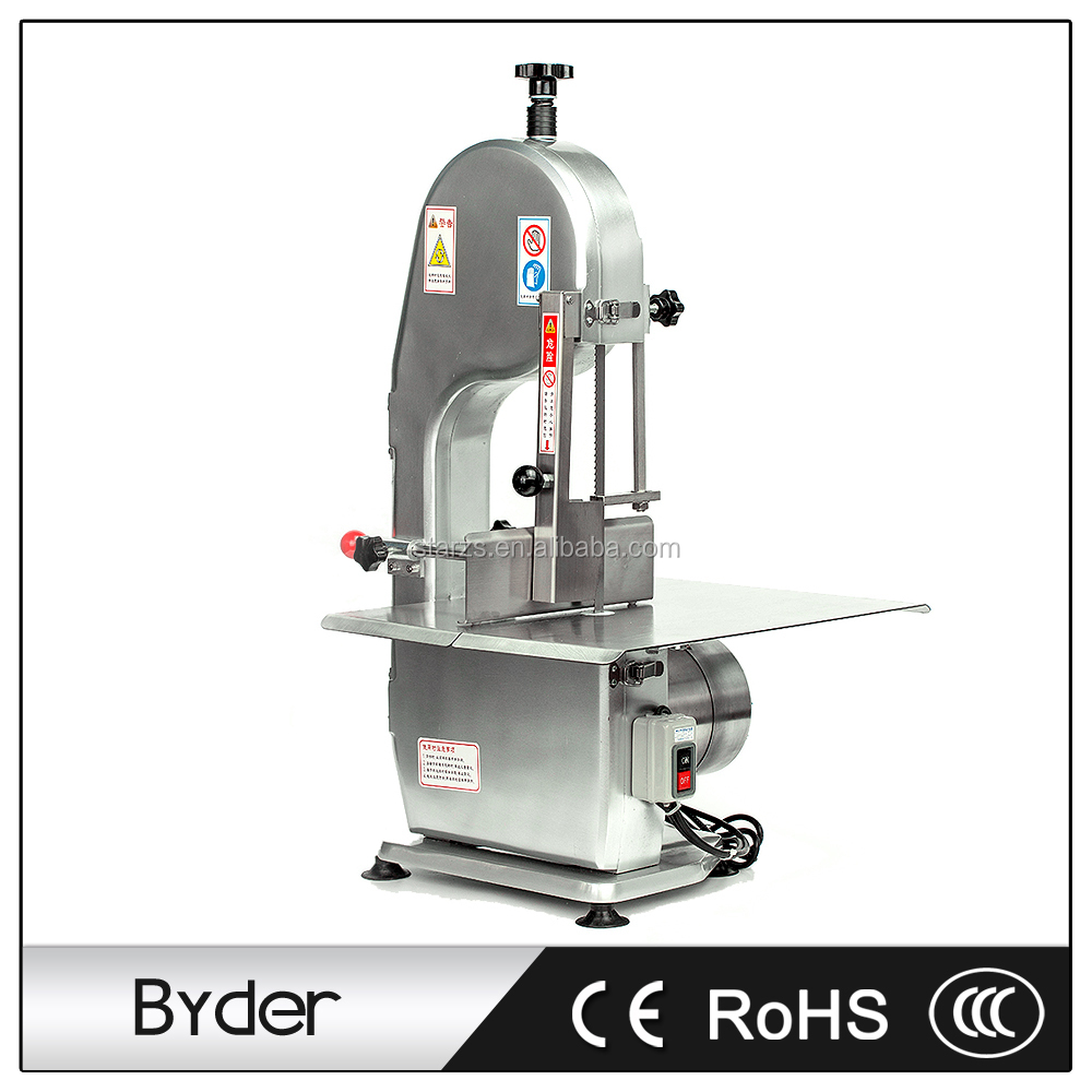 750W High Speed Electric Meat Bone Cutting Saw Machine with Stainless Steel Bench