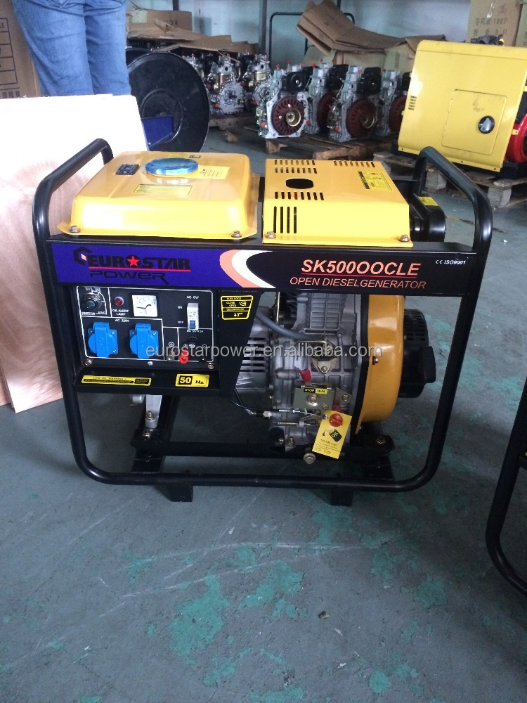 EUROSTAR EUROSTAR 6.5KVA DG6500 Series Portable Diesel Generator Set home used diesel genration for sale