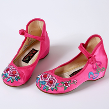 Vogue Princess Shoes Girls Kids Sandals Comfort flats dancing Embroidery Shoes