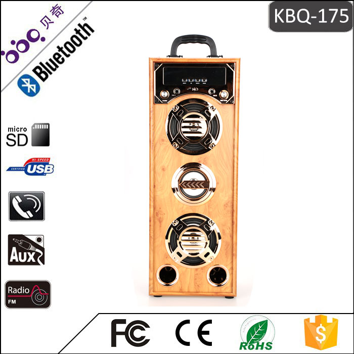 BBQ KBQ-175 Professional Wooden karaoke subwoofer retro wireless Speaker