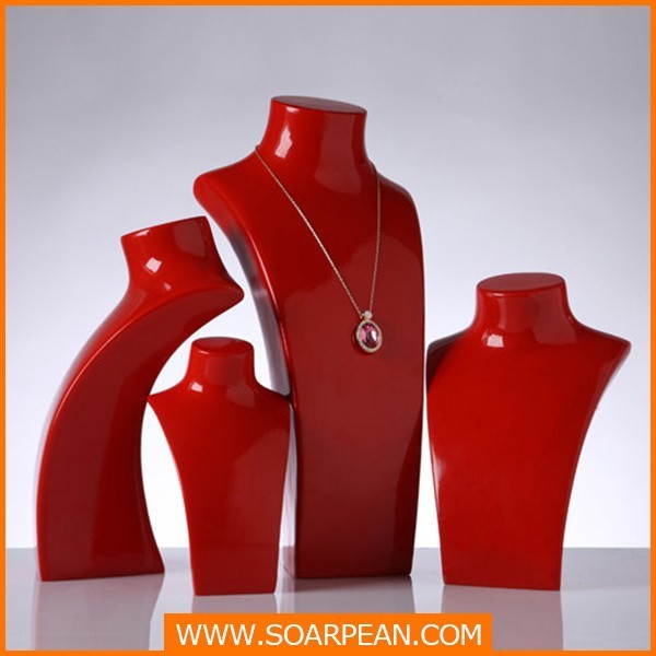 High-end Red Neck Mannequin for Jewelry Display Stand