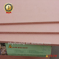 fireproof red color MDF board