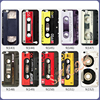 Colorful Painting Mobile Phone Case Ultra Thin Protective Soft TPU Magnetic Tape Back Cover Case For iPhone Cassette Case