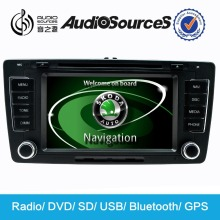 Audiosources: car dvd player for SKODA with green light+ RDS+mirror link function