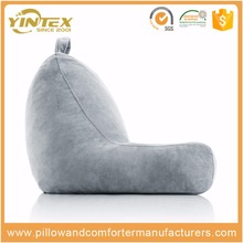 Plush Shredded Foam Reading Relax Pillow for Bed Rest, Arm, Back, Lumbar & Head Support Cushion
