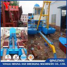 Jet suction gold mining boat