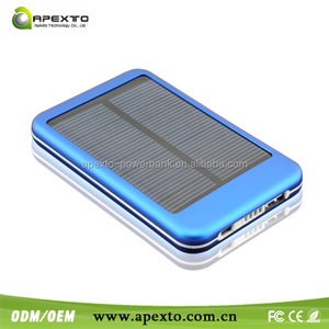 New Travel External Battery Charger Dual USB 5600mAh solar power bank Pack Charger