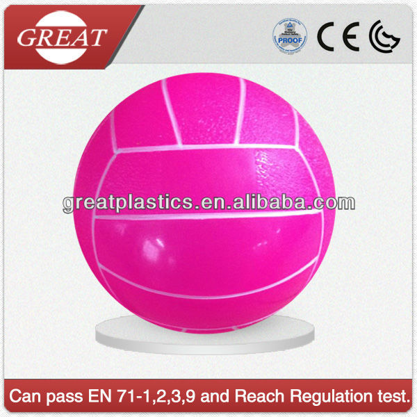 PVC transparent neon volley ball for beach glow ball