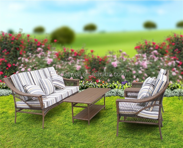 bright colored resin wicker outdoor furniture AWRF5009