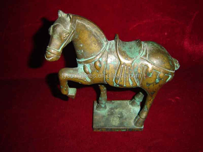 Hot sale small size tang dynasty bronze horse sculpture