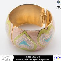 wholesale cloisonne enamel bangle bracelet with clasp