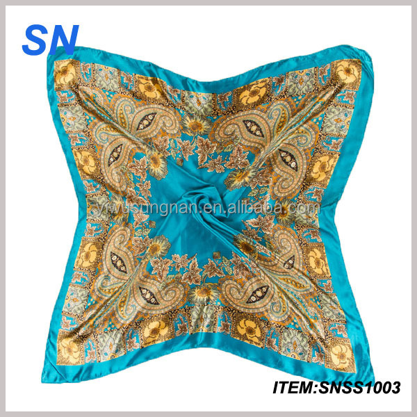Newest fashionable silk scarf wholesale china