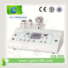 CG-203 HOT!!! 2 in 1 Multifunction Beauty Parlor Instrument /High Frequency Ultrasonic Galvanic Facial Machine