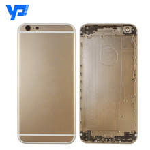 China wholesale gold housing for iPhone 6 Plus back cover and battery door cover with small parts